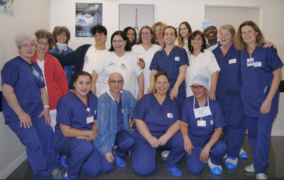 L'équipe de l'Unité de Chirurgie Ambulatoire