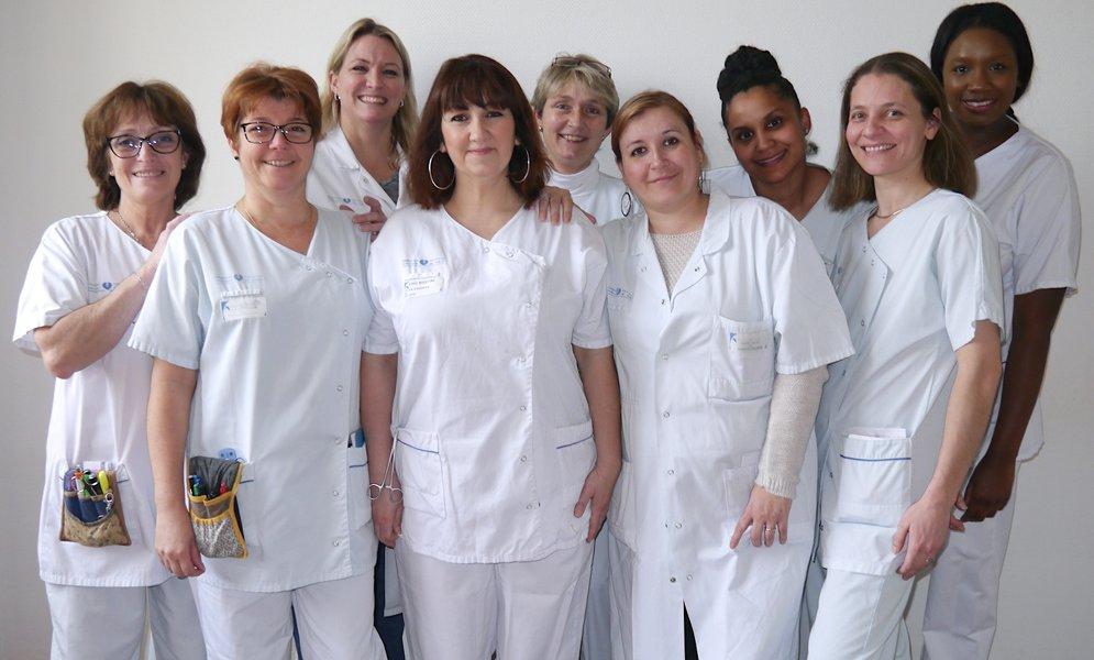 L'équipe de l'Unité d'Hospitalisation
